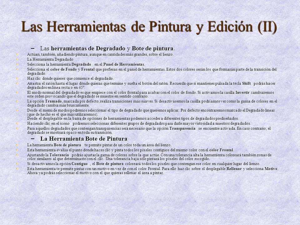 Las Herramientas de Pintura y Edición (II)