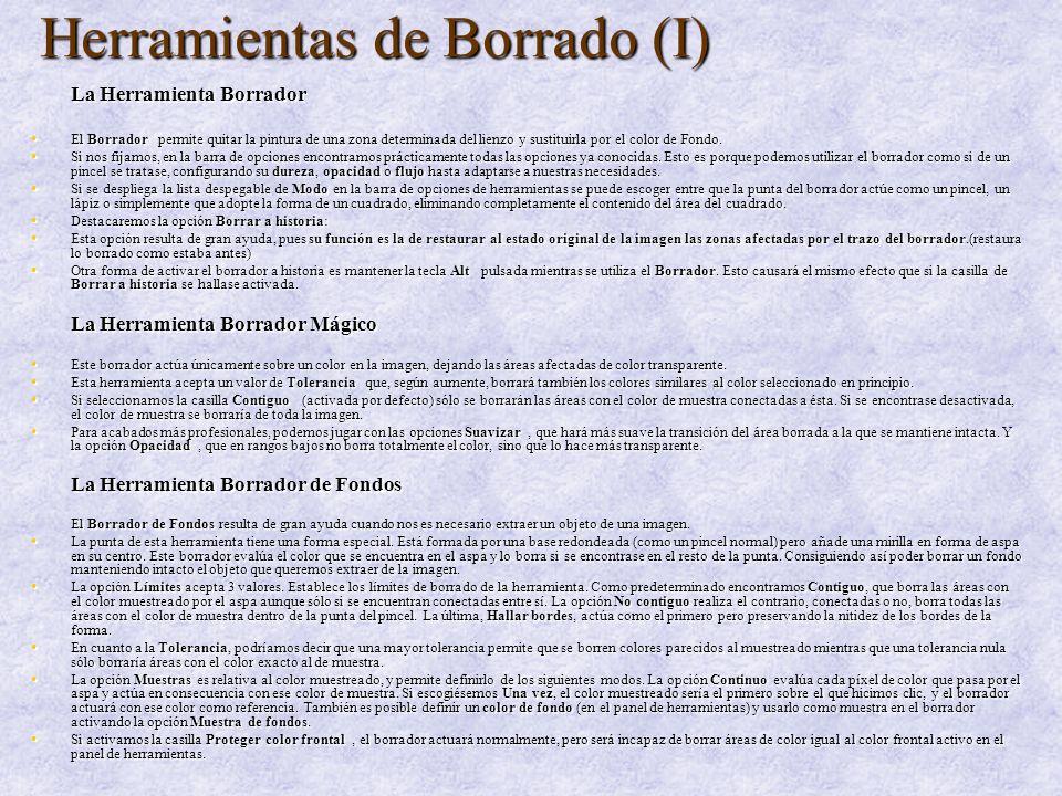 Herramientas de Borrado (I)
