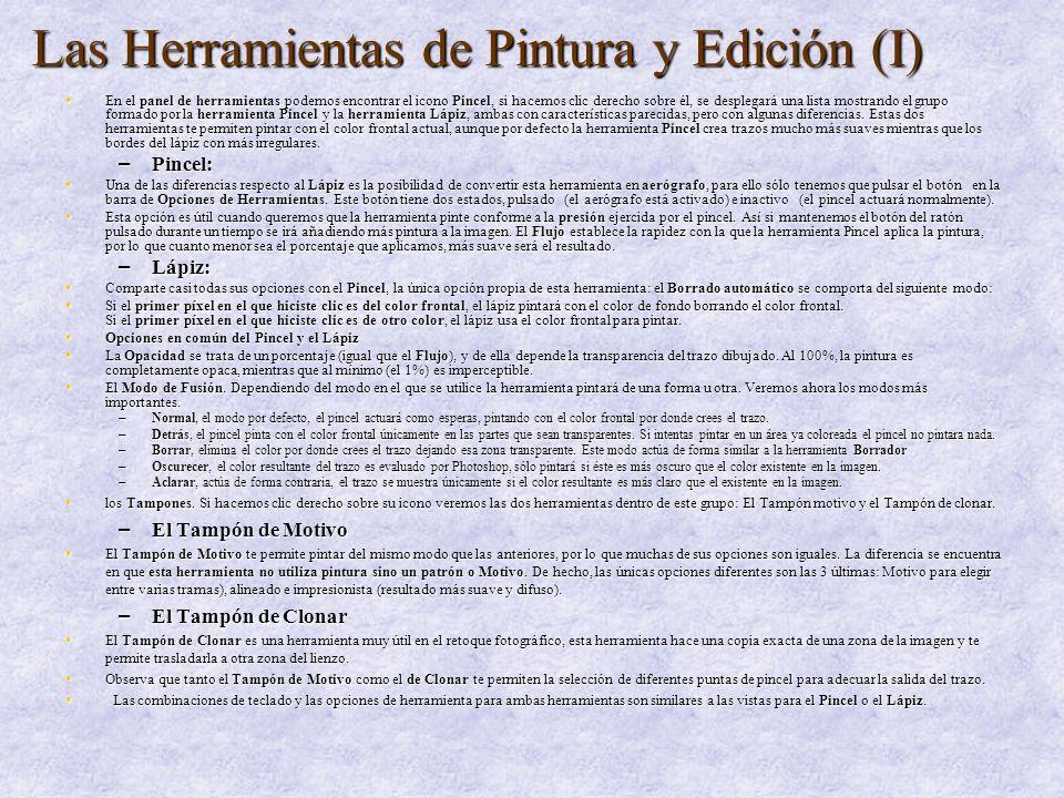 Las Herramientas de Pintura y Edición (I)