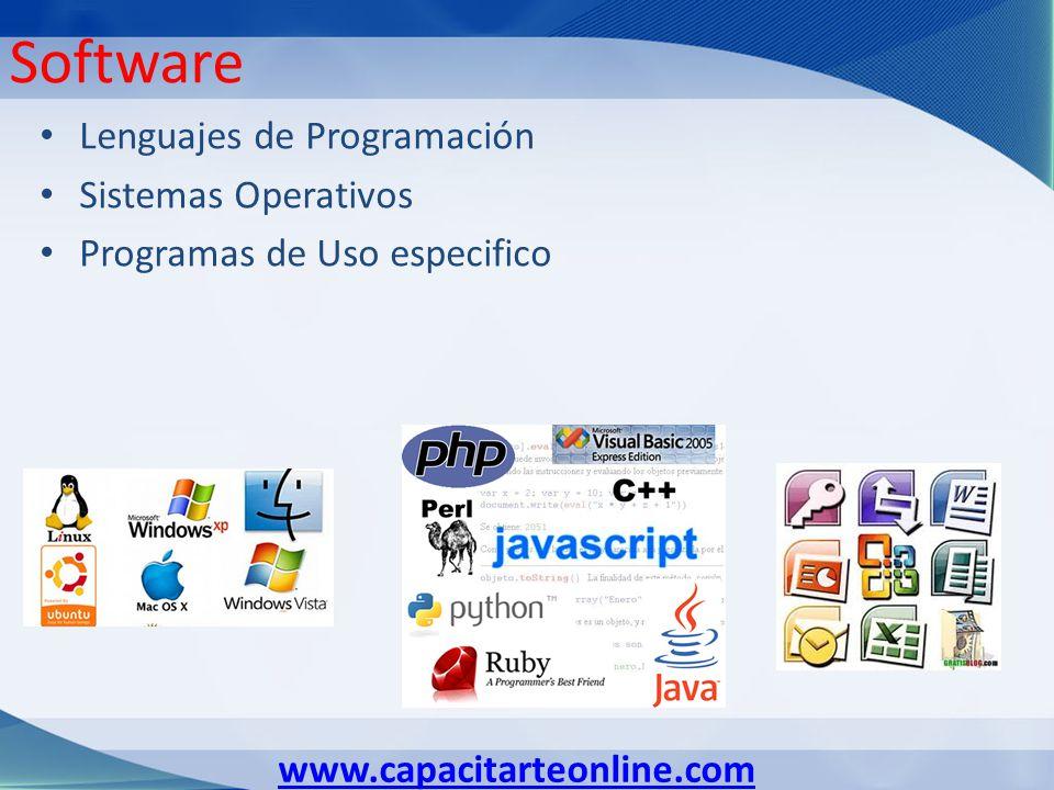 Software Lenguajes de Programación Sistemas Operativos