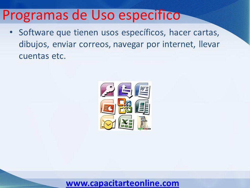 Programas de Uso especifico