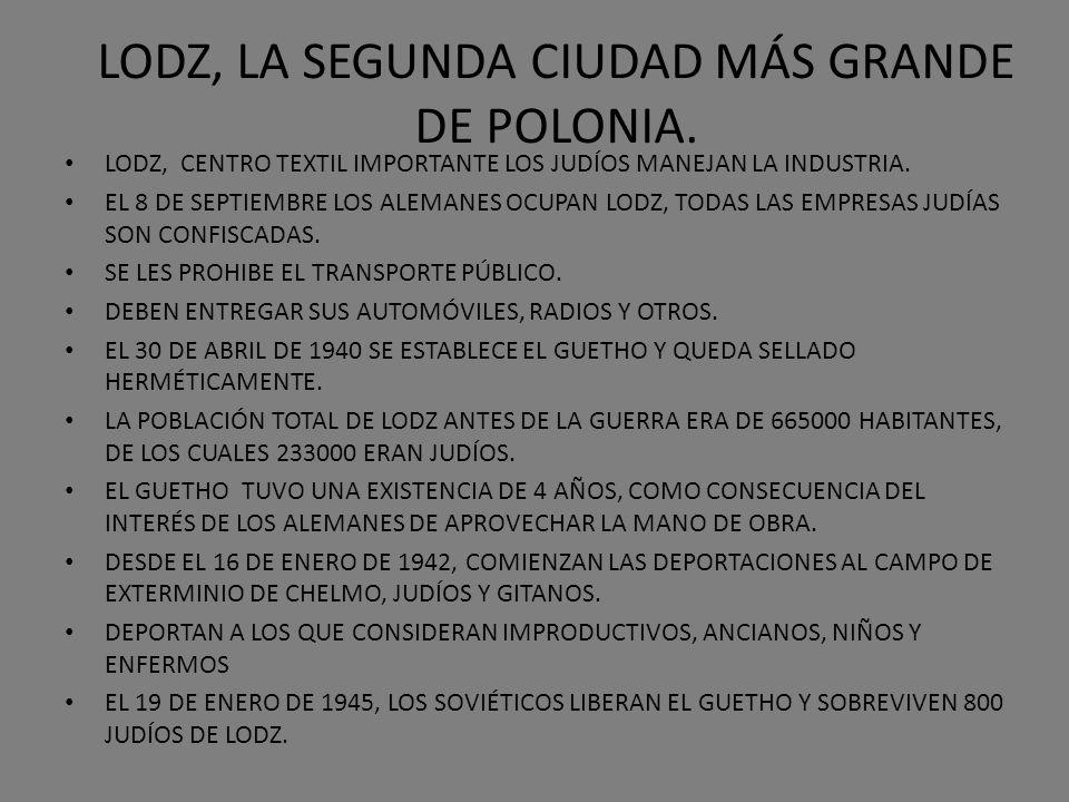 LODZ, LA SEGUNDA CIUDAD MÁS GRANDE DE POLONIA.