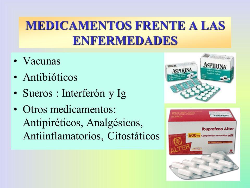 MEDICAMENTOS FRENTE A LAS ENFERMEDADES