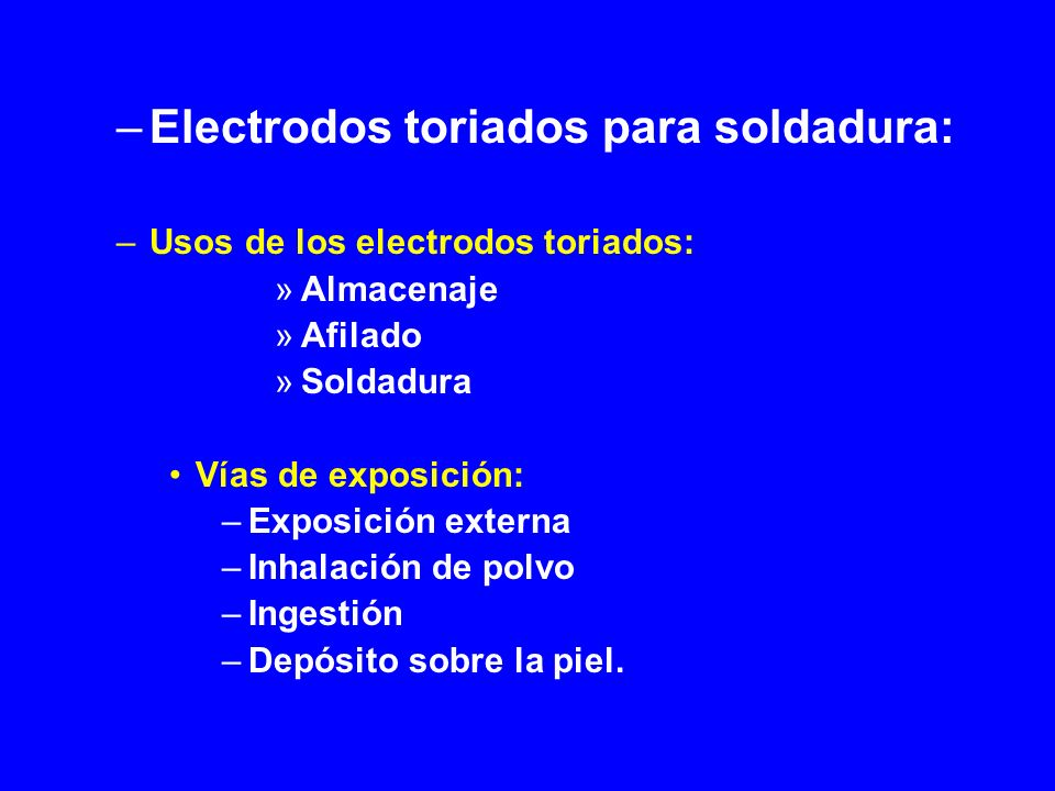 Electrodos toriados para soldadura: