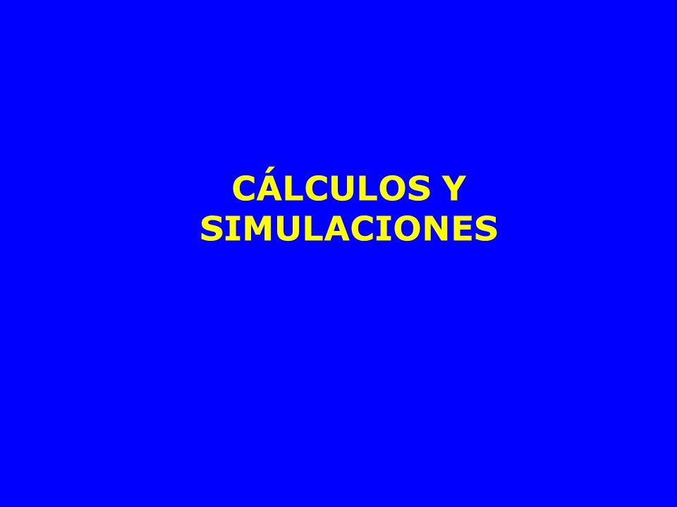 CÁLCULOS Y SIMULACIONES