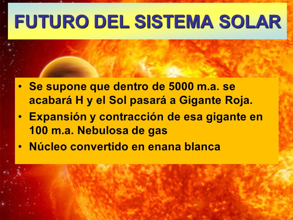 FUTURO DEL SISTEMA SOLAR