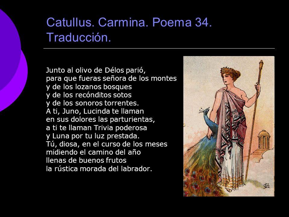 Catullus. Carmina. Poema 34. Traducción.