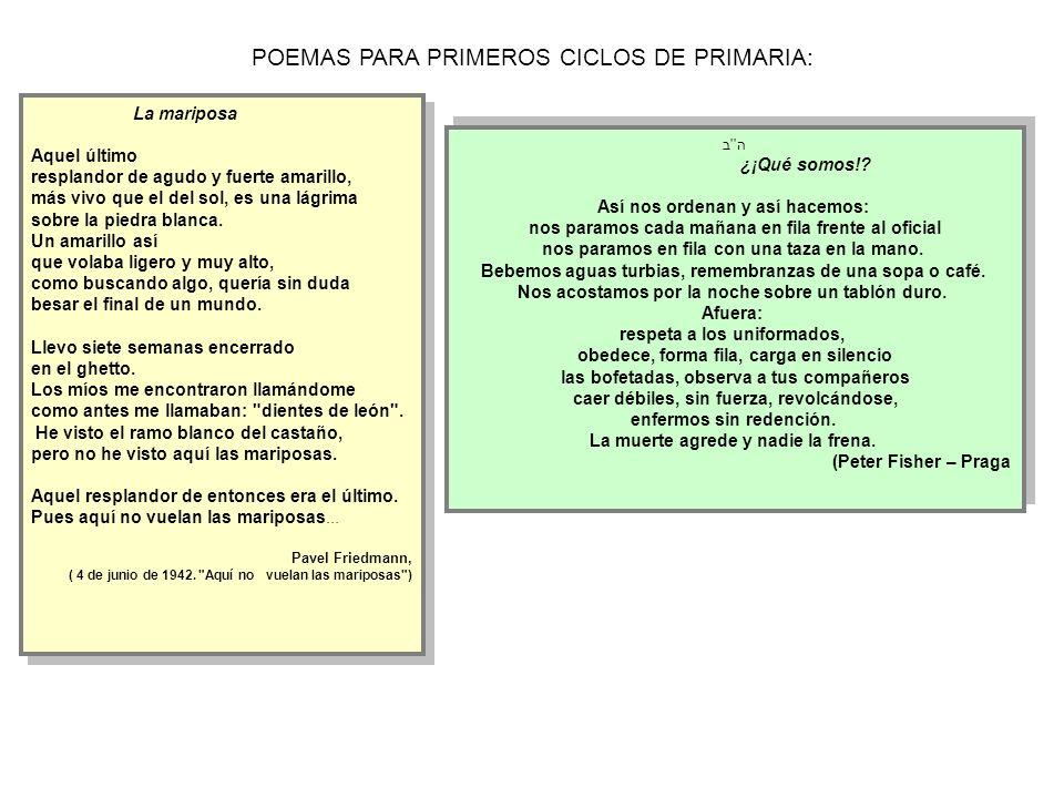 POEMAS PARA PRIMEROS CICLOS DE PRIMARIA: