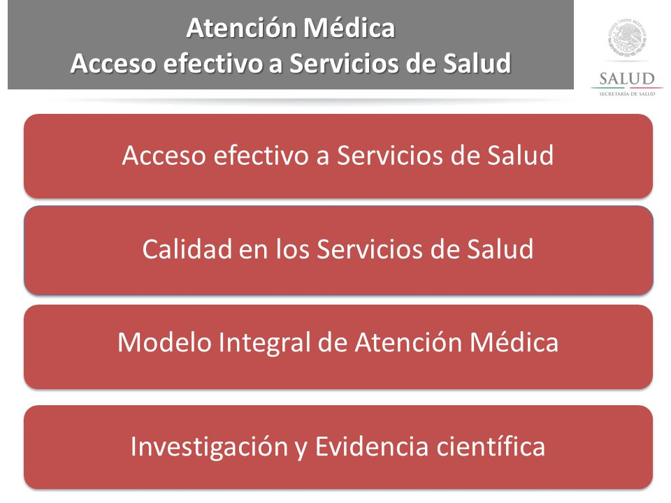 Acceso efectivo a Servicios de Salud