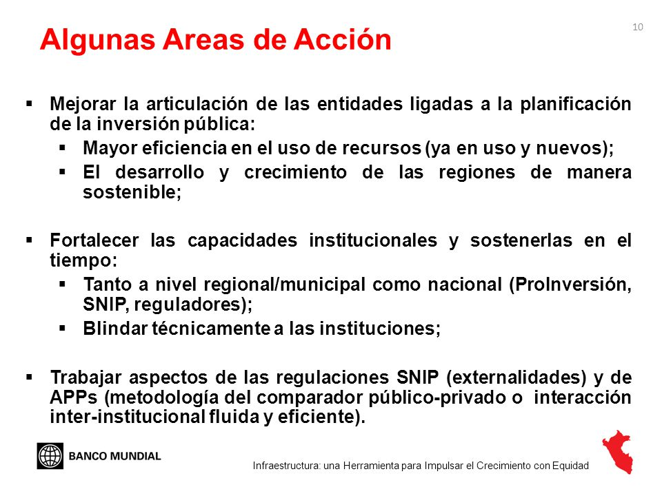 Algunas Areas de Acción