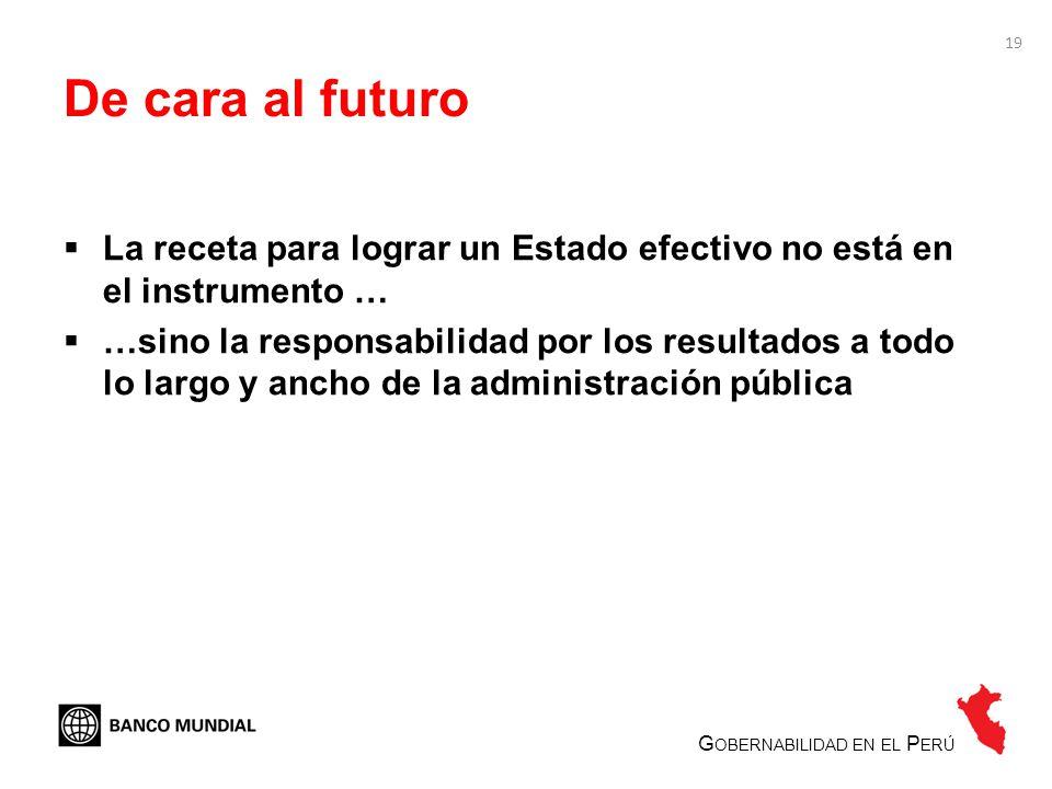De cara al futuro La receta para lograr un Estado efectivo no está en el instrumento …