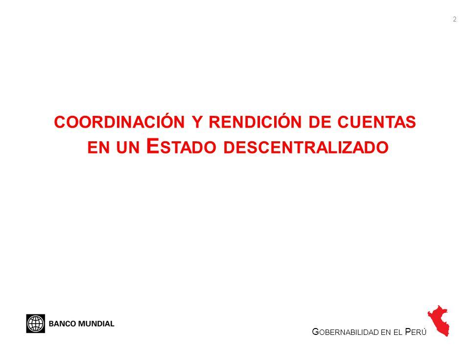 coordinación y rendición de cuentas en un Estado descentralizado