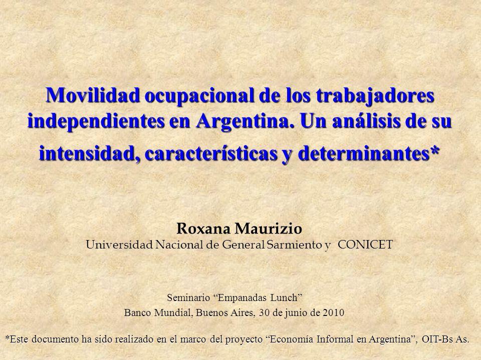 Movilidad ocupacional de los trabajadores independientes en Argentina