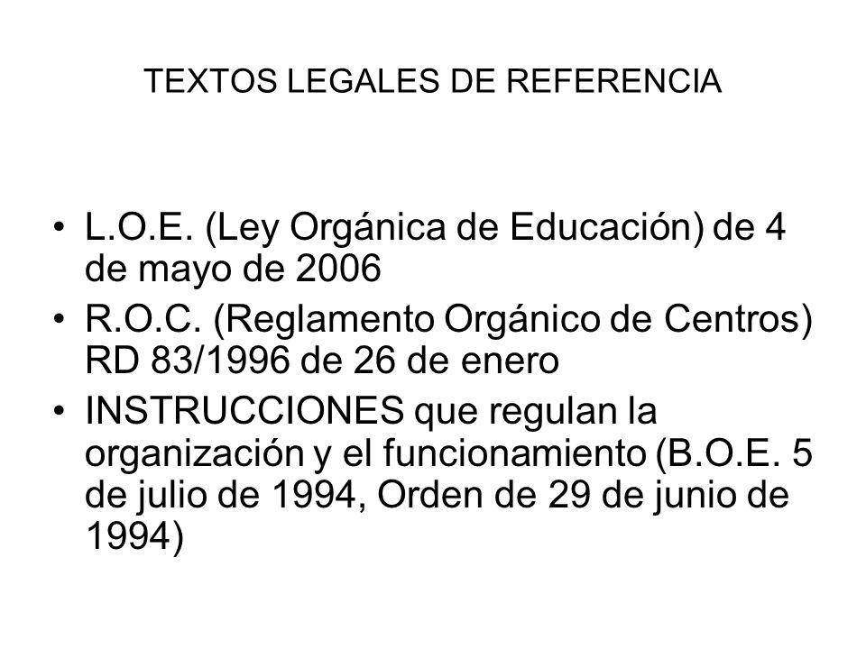 TEXTOS LEGALES DE REFERENCIA