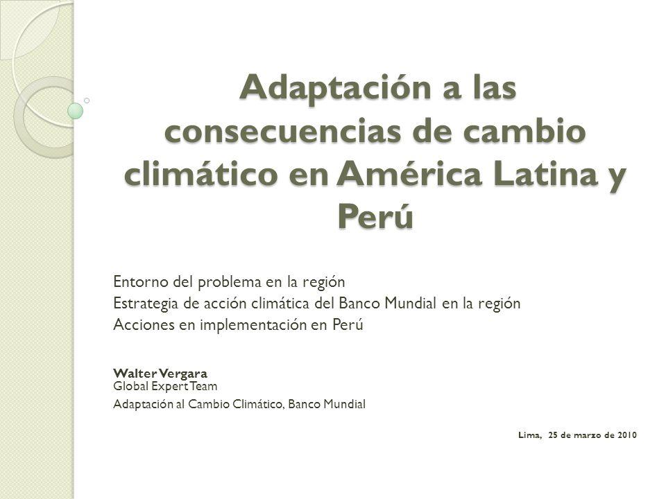 Adaptación a las consecuencias de cambio climático en América Latina y Perú