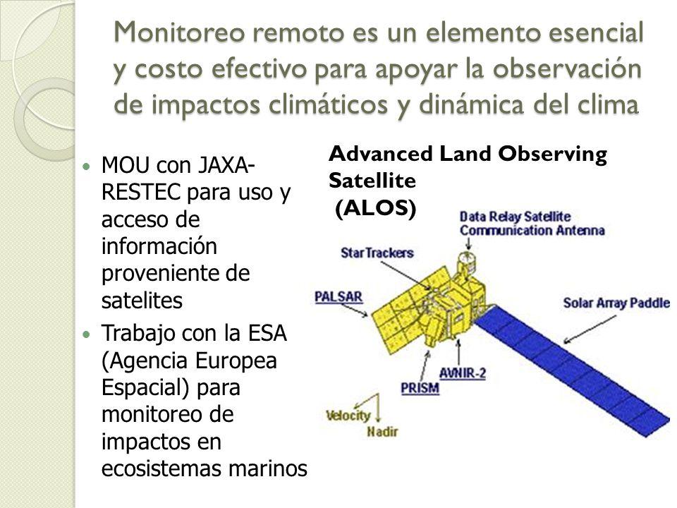 Monitoreo remoto es un elemento esencial y costo efectivo para apoyar la observación de impactos climáticos y dinámica del clima