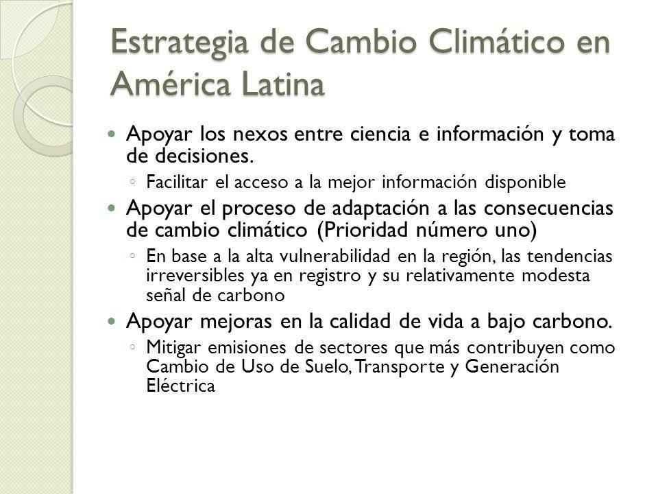 Estrategia de Cambio Climático en América Latina