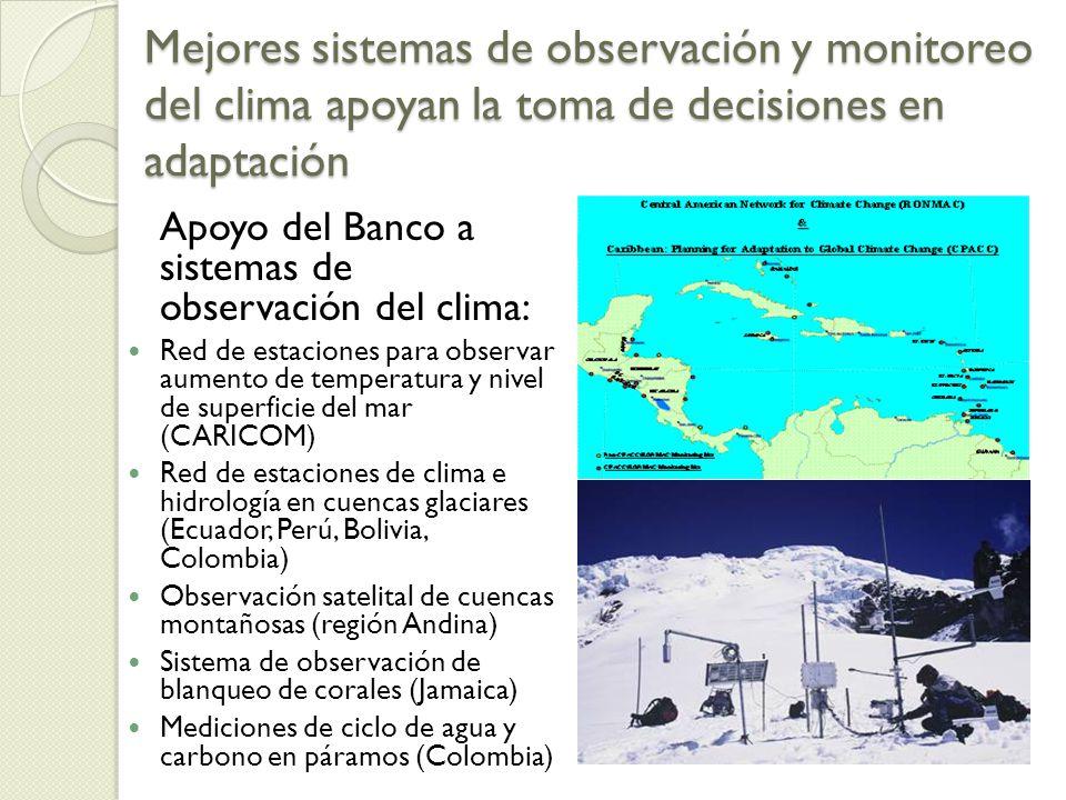 Mejores sistemas de observación y monitoreo del clima apoyan la toma de decisiones en adaptación