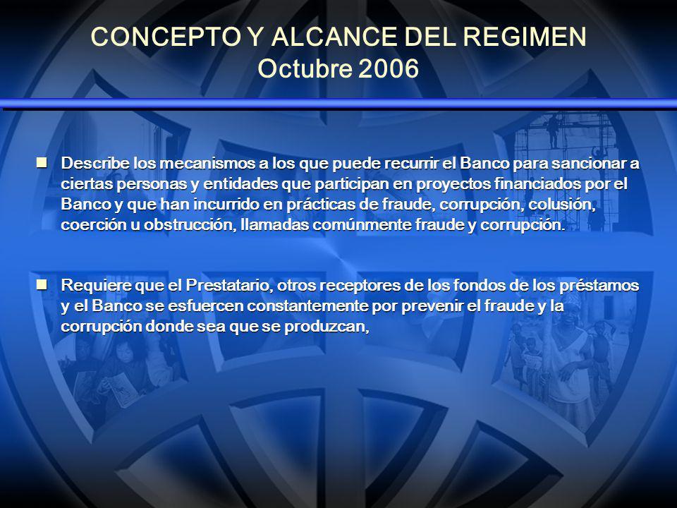 REGIMEN DE SANCIONES 2006