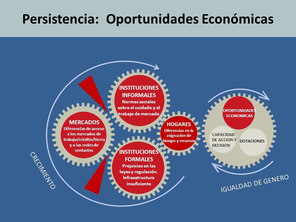 Persistencia: Oportunidades Económicas