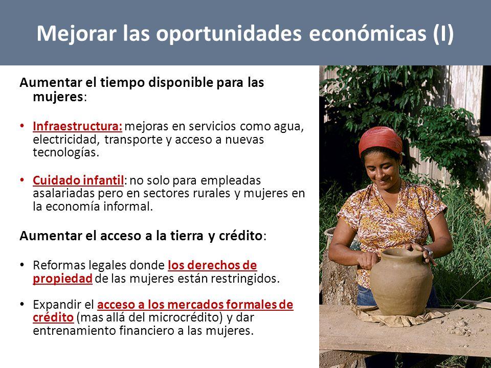 Mejorar las oportunidades económicas (I)