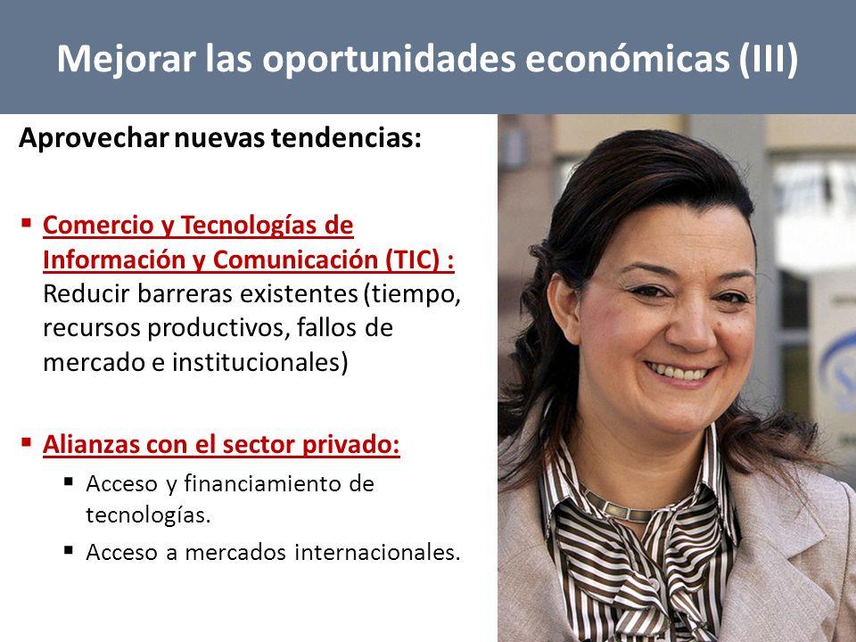 Mejorar las oportunidades económicas (III)