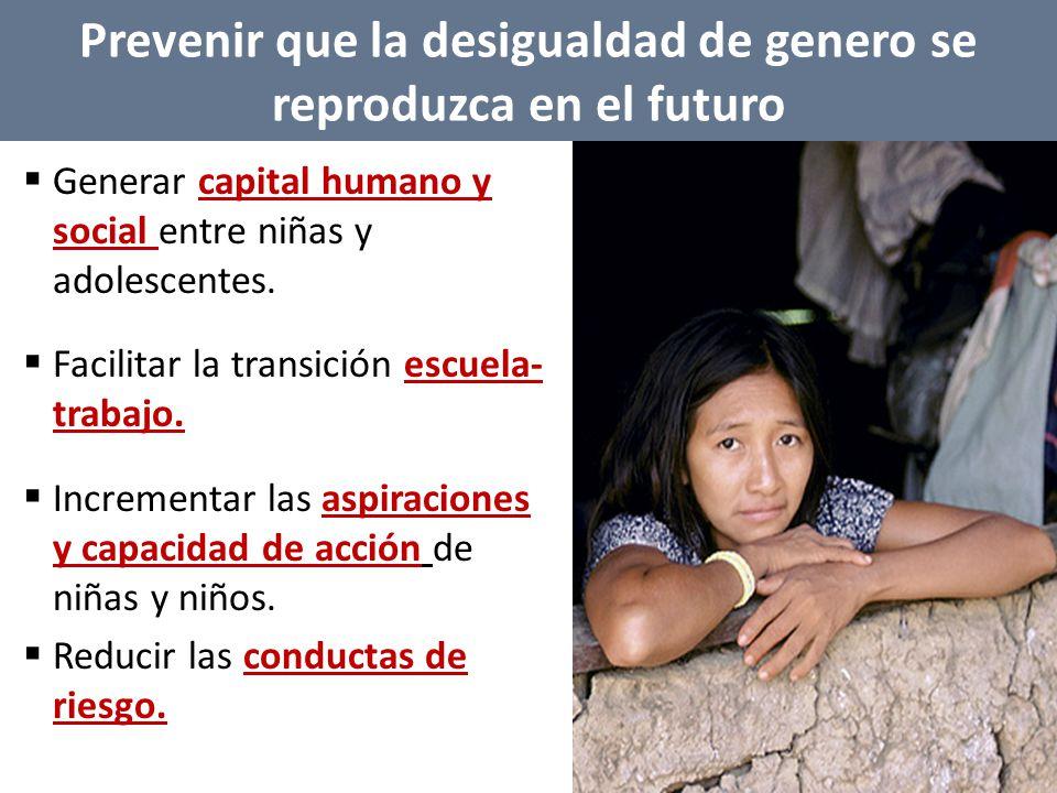 Prevenir que la desigualdad de genero se reproduzca en el futuro