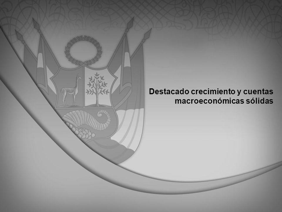 Destacado crecimiento y cuentas macroeconómicas sólidas