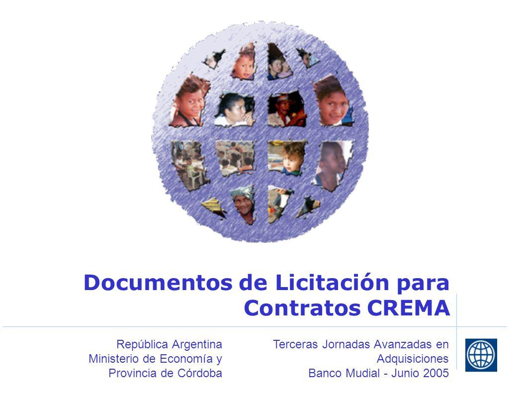 Documentos de Licitación para Contratos CREMA