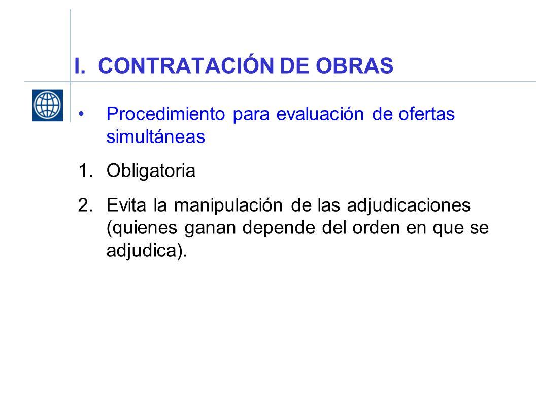 I. CONTRATACIÓN DE OBRAS