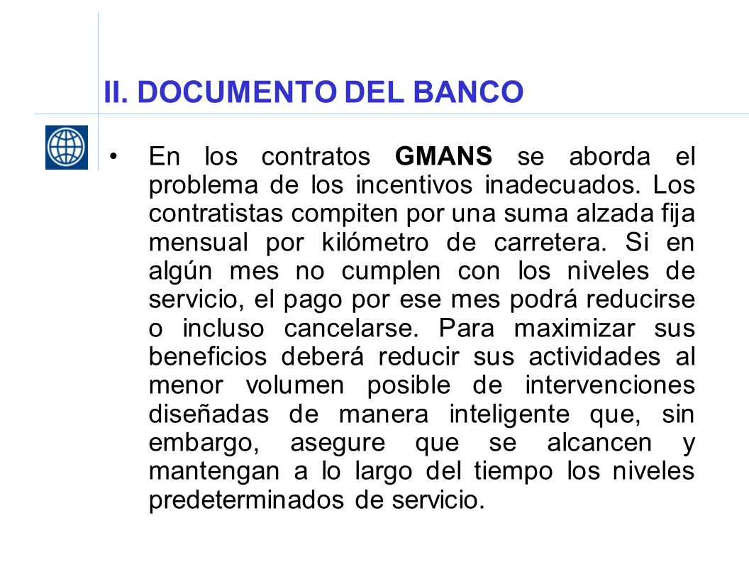 II. DOCUMENTO DEL BANCO
