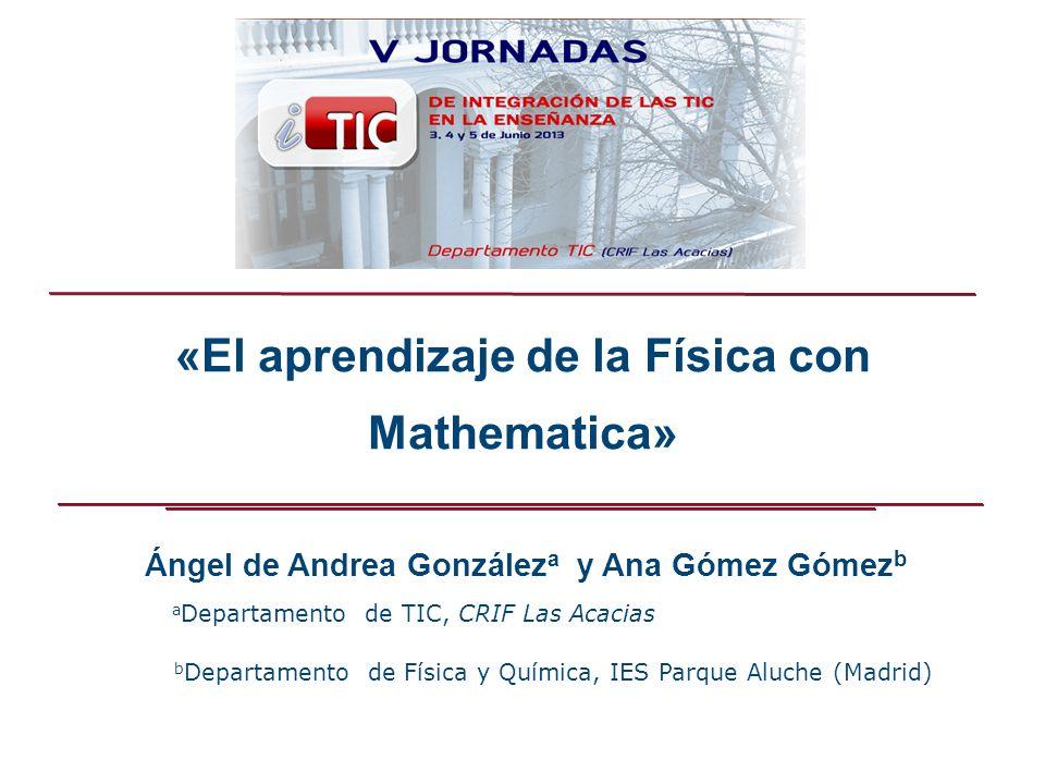 «El aprendizaje de la Física con Mathematica»