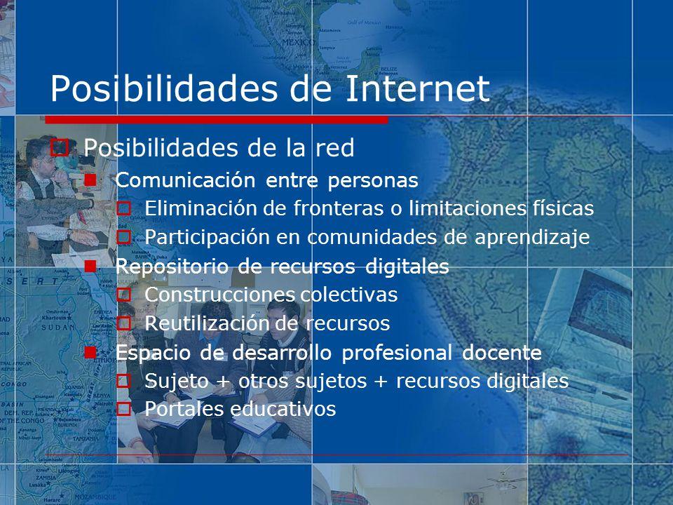 Posibilidades de Internet