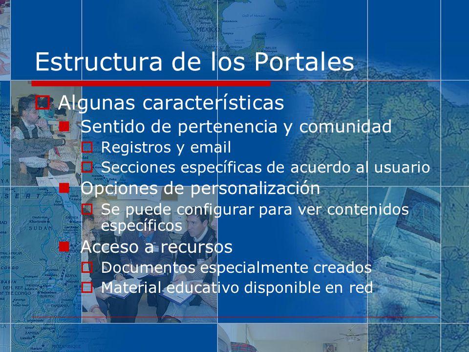 Estructura de los Portales