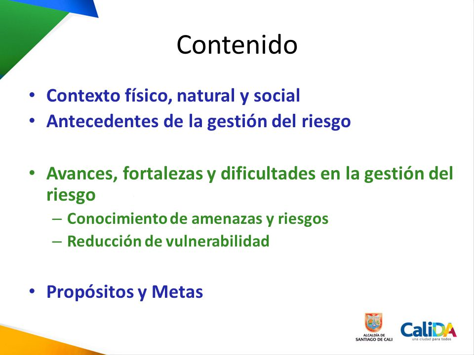 Contenido Contexto físico, natural y social