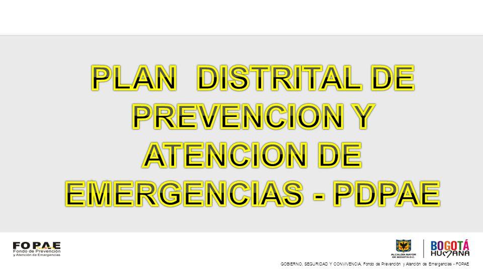 PLAN DISTRITAL DE PREVENCION Y ATENCION DE EMERGENCIAS - PDPAE