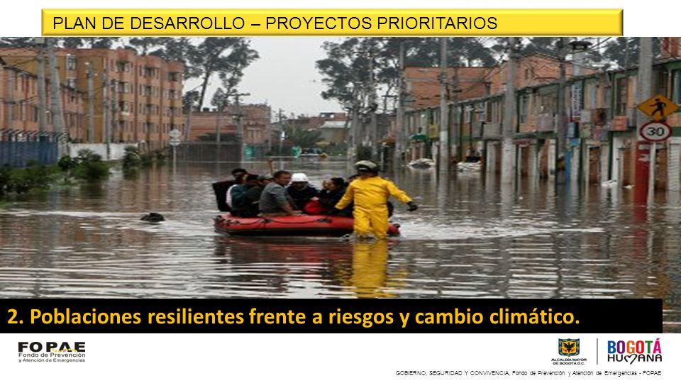 2. Poblaciones resilientes frente a riesgos y cambio climático.