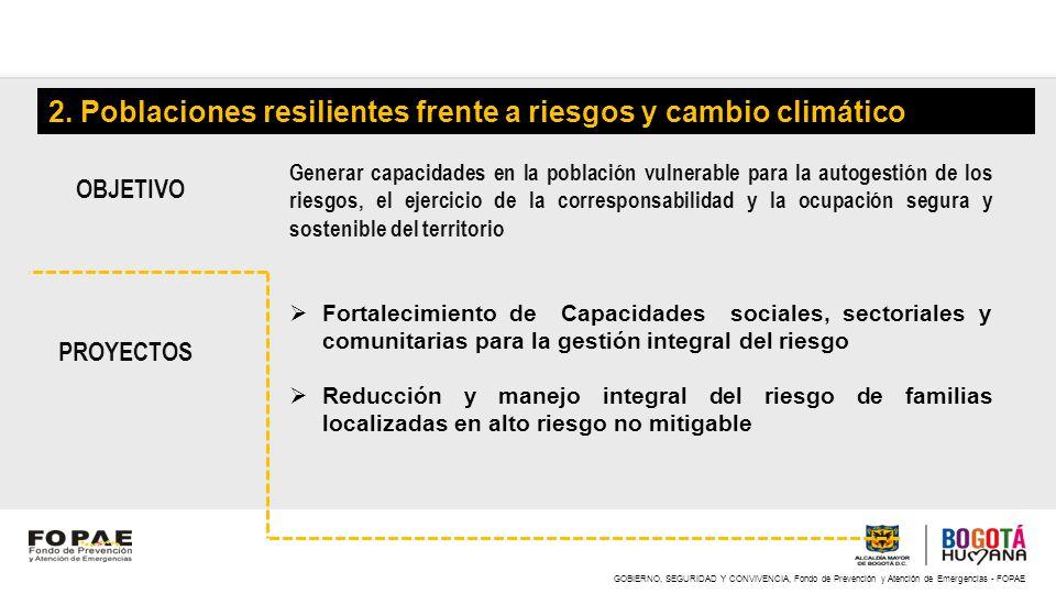 2. Poblaciones resilientes frente a riesgos y cambio climático