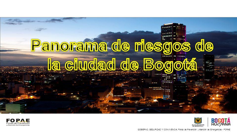 Panorama de riesgos de la ciudad de Bogotá