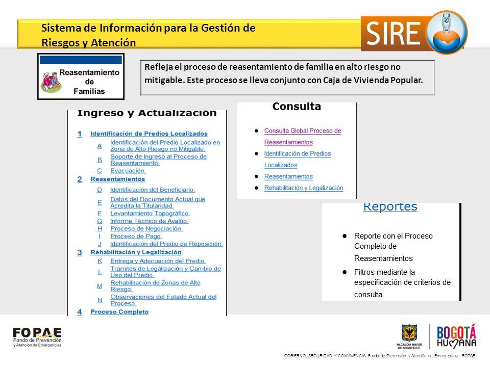 Sistema de Información para la Gestión de Riesgos y Atención