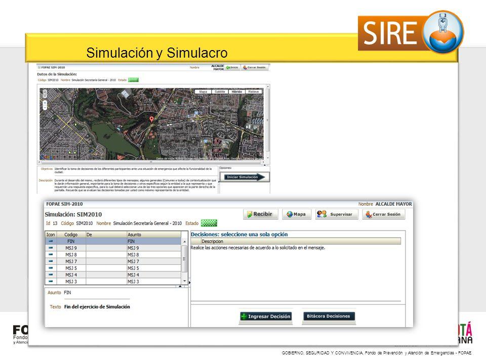 Simulación y Simulacro