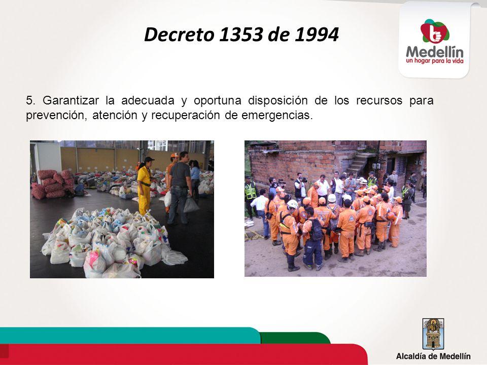 Decreto 1353 de 1994 5.