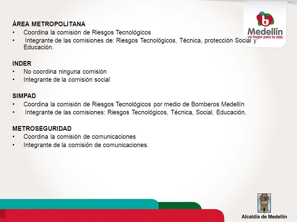 ÁREA METROPOLITANA Coordina la comisión de Riesgos Tecnológicos.