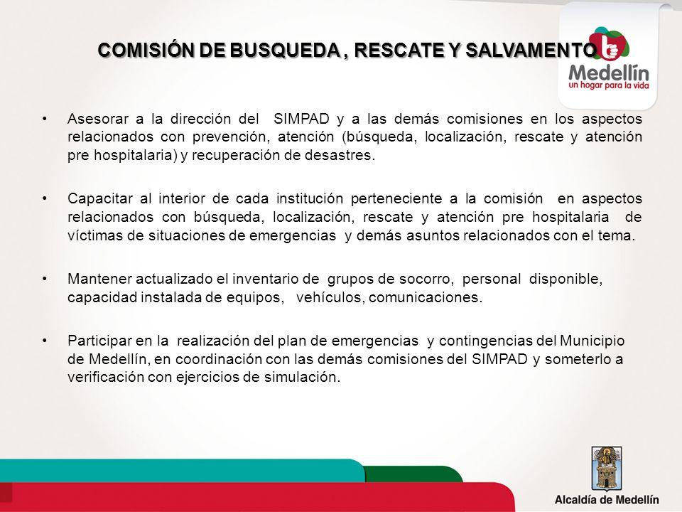 COMISIÓN DE BUSQUEDA , RESCATE Y SALVAMENTO