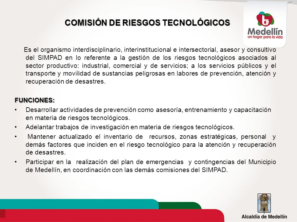 COMISIÓN DE RIESGOS TECNOLÓGICOS