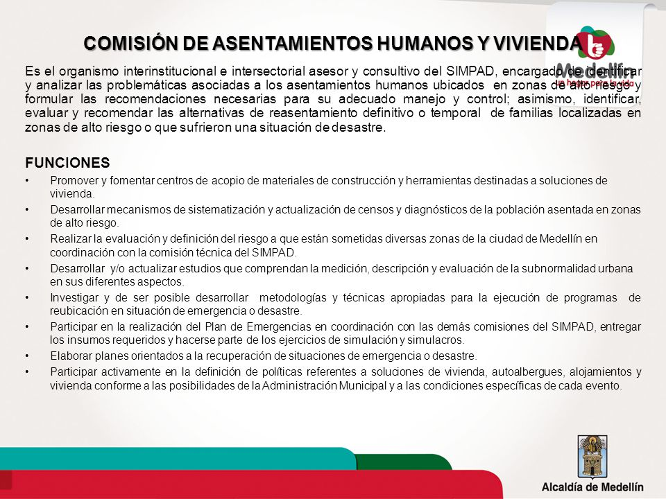 COMISIÓN DE ASENTAMIENTOS HUMANOS Y VIVIENDA