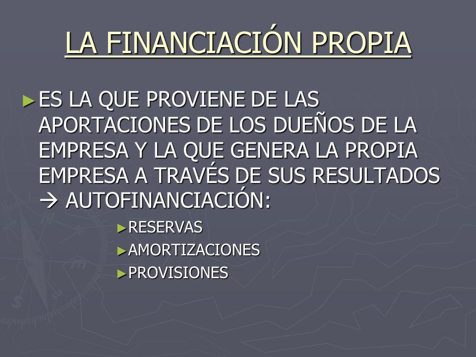 LA FINANCIACIÓN PROPIA