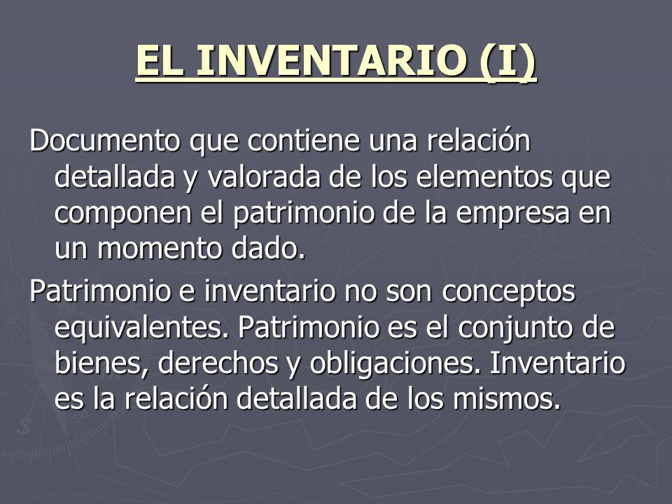 EL INVENTARIO (I)