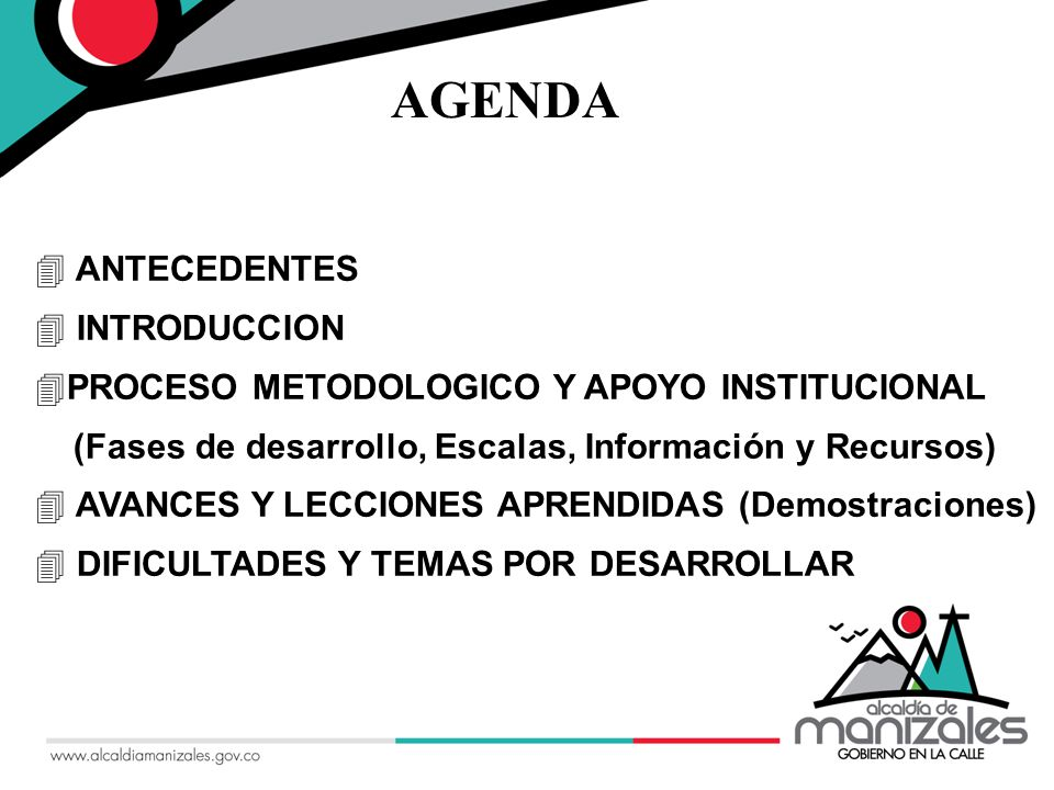 AGENDA ANTECEDENTES INTRODUCCION