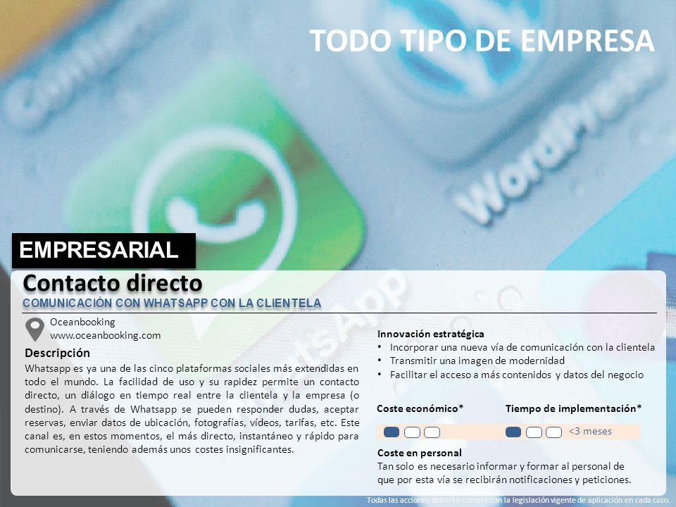 TODO TIPO DE EMPRESA Contacto directo EMPRESARIAL Descripción